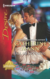 image of Book cover for All of Nothing by Catherine Mann, showing a man in tuxedo holding a woman in an evening gown who is sitting on a gambling table.