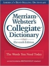 Book cover with red background for the Merriam-Webster's Collegiate Dictionary